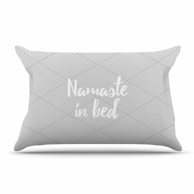 Namaste In Bed Pillow Case Color: Gray