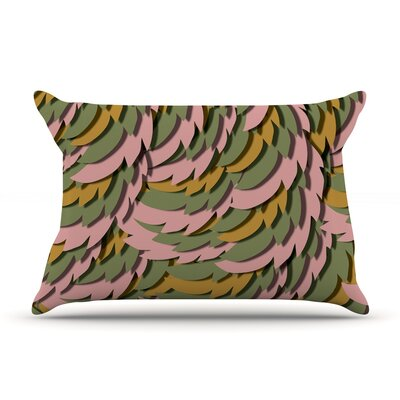 Akwaflorell Wings Pillow Case Color: Pink/Green