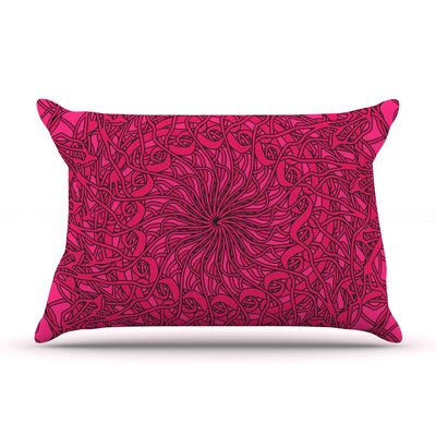 Patternmuse Mandala Spin Geometric Pillow Case
