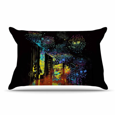 Federic Levy-Hadida Starry City Lights Rainbow Pillow Case