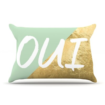 Oui Gold Pillow Case