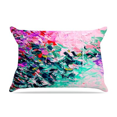 Ebi Emporium Winter Retreat Pillow Case Color: Pink/Teal