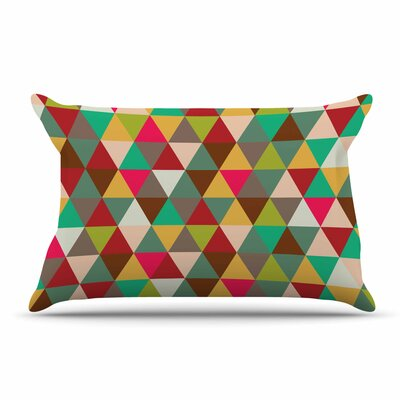 Autumn Triangle Spectrum Geometric Pillow Case
