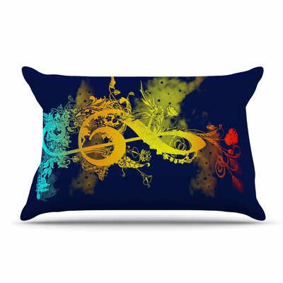 Federic Levy-Hadida Sound Of Nature Rainbow Music Pillow Case