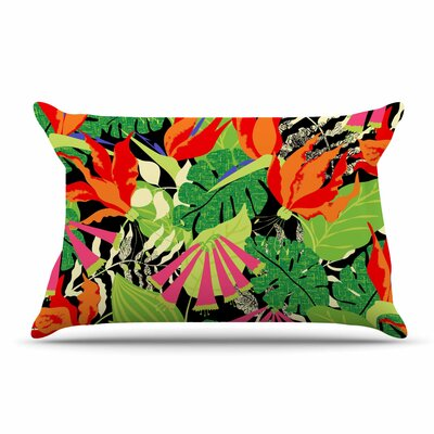 Jacqueline Milton Tropicana Pillow Case Color: Orange/Green