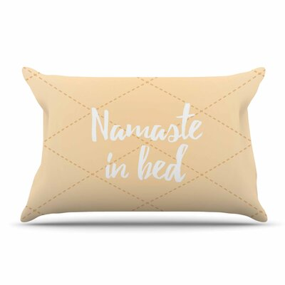 Namaste In Bed Pillow Case Color: Yellow