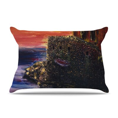 Josh Serafin Seaside Village Pillow Case