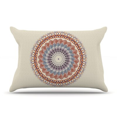 Famenxt Black & Boho Mandala Geometric Pillow Case Color: Yellow
