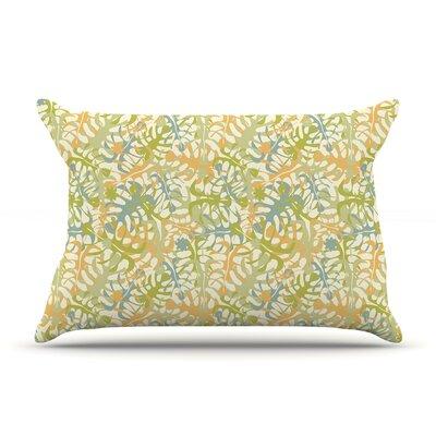 Julia Grifol Warm Tropical Leaves Pillow Case