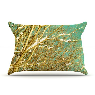 Iris Lehnhardt Snow Covered Twigs Pillow Case