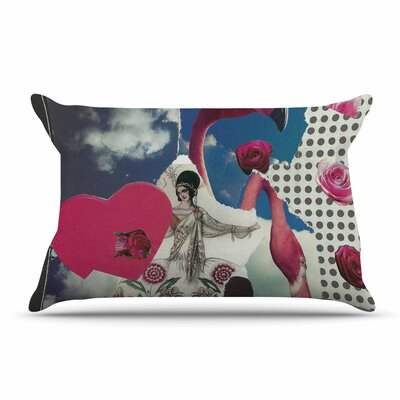 Jina Ninjjaga Flamingo Attack Pop Art Pillow Case