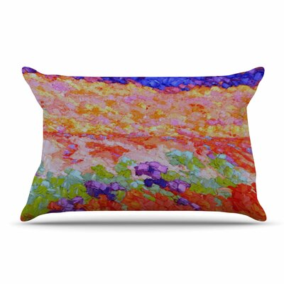 Jeff Ferst Earthly Delights Floral Abstract Pillow Case