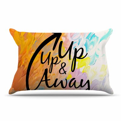 Ebi Emporium Up Up & Away Typography Pillow Case