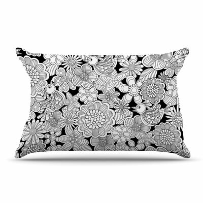 Julia Grifol Welcome Birds Floral Pillow Case