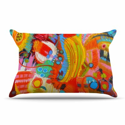 Jeff Ferst Flower Power Abstract Pillow Case