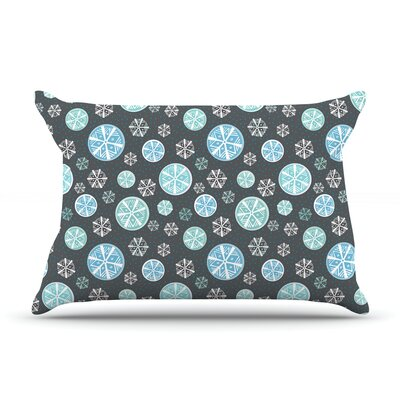 Julie Hamilton Midnight Snow Winter Pillow Case Color: Black
