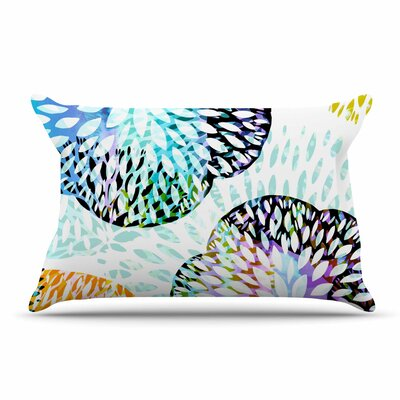 Jessica Wilde Tropical Flora Pastel Abstract Pillow Case