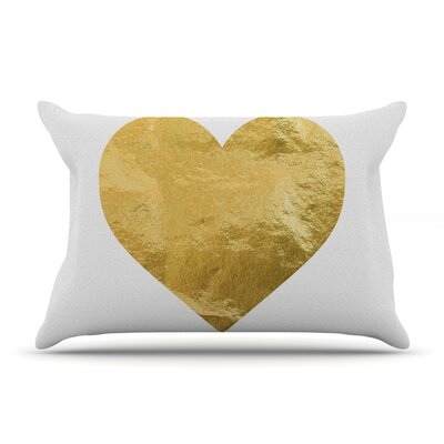 Heart Of Gold Pillow Case