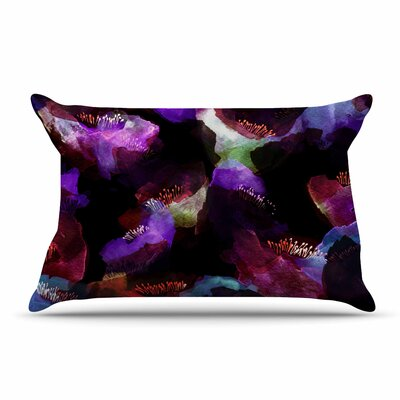 Jessica Wilde Watercolour Poppy Abstract Pillow Case