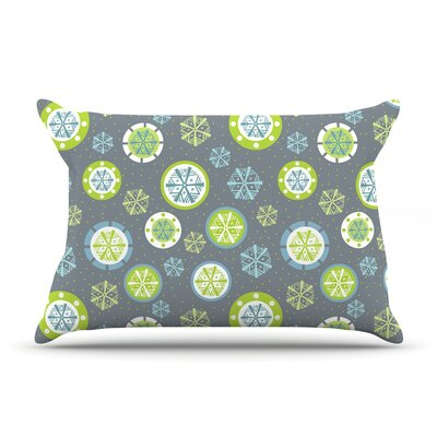 Julie Hamilton Midnight Snow Winter Pillow Case Color: Gray