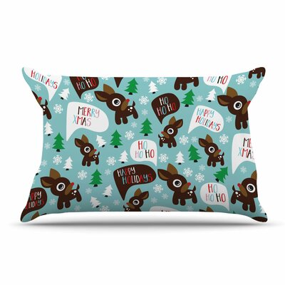 Cheerful Reindeer Pillow Case