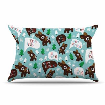 Cheerful Reindeer Pillow Case