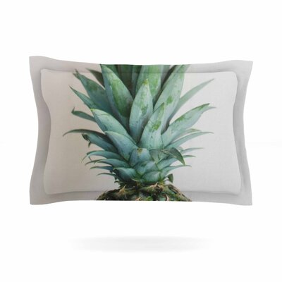 The Pineapple Cotton Pillow Sham Size: 20 H x 40 W