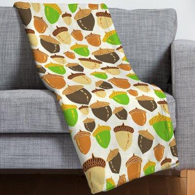 Acorns Throw Blanket