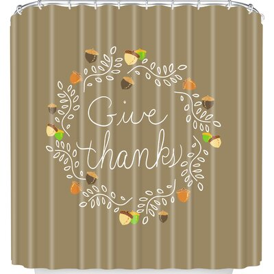 Lisa Argyropoulos Giving Thanks Shower Curtain