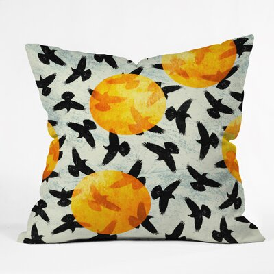 Birds Throw Pillow Size: 16 H x 16 W x 4 D