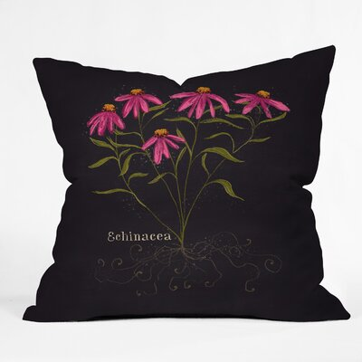 Echinacea Throw Pillow Size: 16 H x 16 W x 4 D