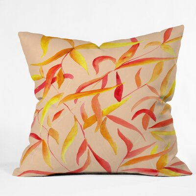 Autumn Leaves Throw Pillow Size: 16 H x 16 W x 4 D