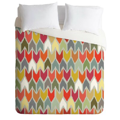 Sharon Turner Beach House Ikat Chevron Duvet Cover Size: Twin
