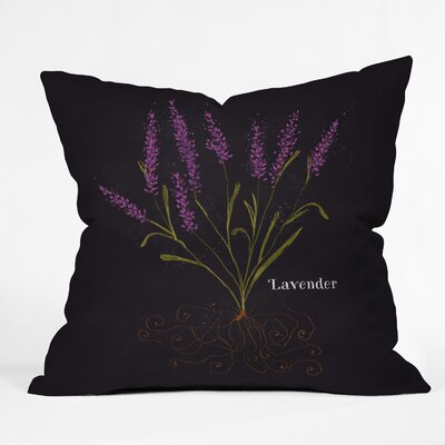 Lavender Throw Pillow Size: 16 H x 16 W x 4 D
