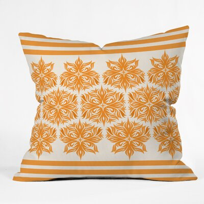 Lara Kulpa Creamsicle Tribal Floral Throw Pillow Size: 16 H x 16 W x 4 D