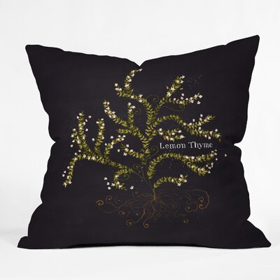 Lemon Thyme Throw Pillow Size: 16 H x 16 W x 4 D