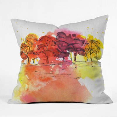 Golden Hue Throw Pillow Size: 16 H x 16 W x 4 D