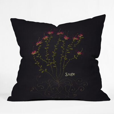 Sage Throw Pillow Size: 16 H x 16 W x 4 D
