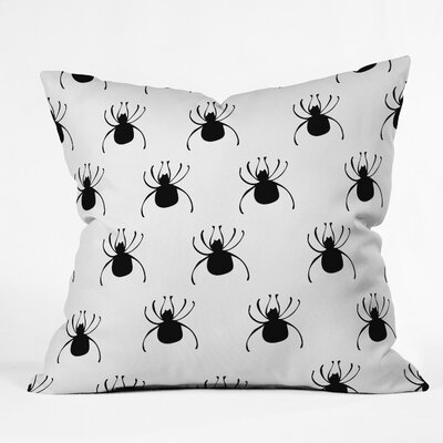 Spiders Throw Pillow Size: 20 H x 20 W x 6 D