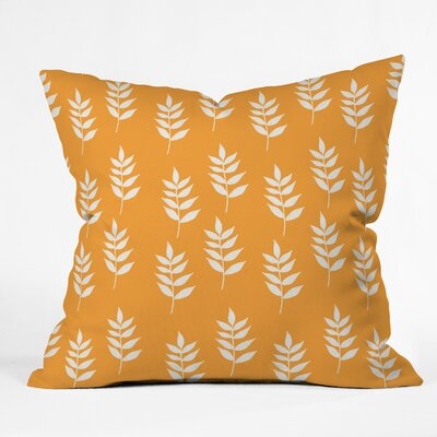 Mini Leaf Throw Pillow Size: 16 H x 16 W x 4 D