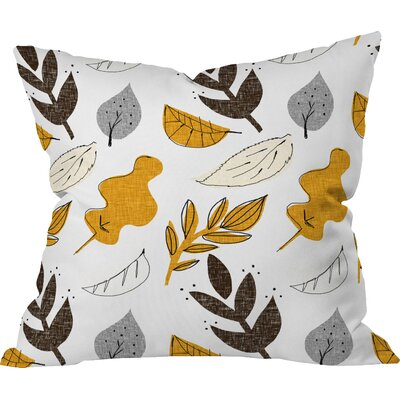 Fall Leaves Throw Pillow Size: 16 H x 16 W x 4 D