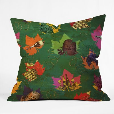 Autumn Pattern Throw Pillow Size: 16 H x 16 W x 4 D