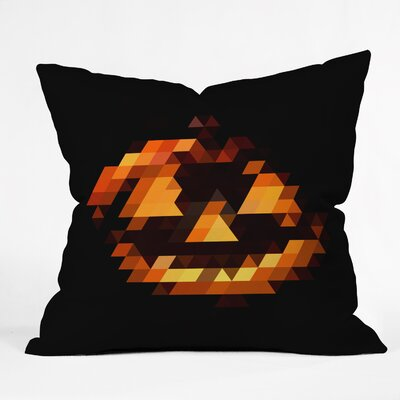 Jackolantern Throw Pillow Size: 16 H x 16 W x 4 D