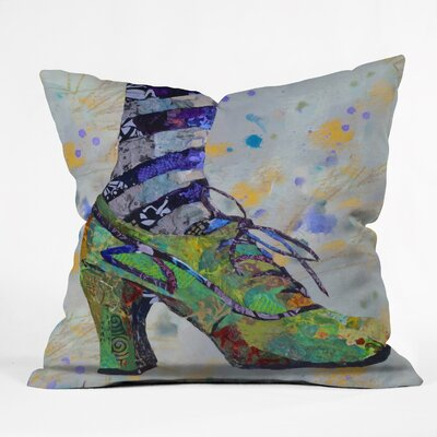 Green Witch Shoe Study Throw Pillow Size: 18 H x 18 W x 5 D