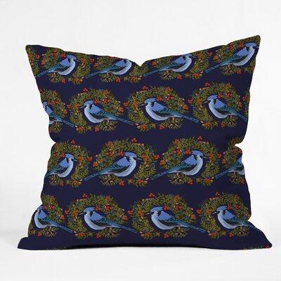 Joy Laforme Jay Wreaths Indoor/Outdoor Throw Pillow