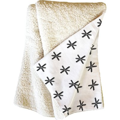 Wesley Bird Cross Out Throw Blanket