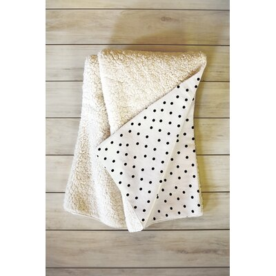 Allyson Johnson Tiny Polka Dots Throw Blanket