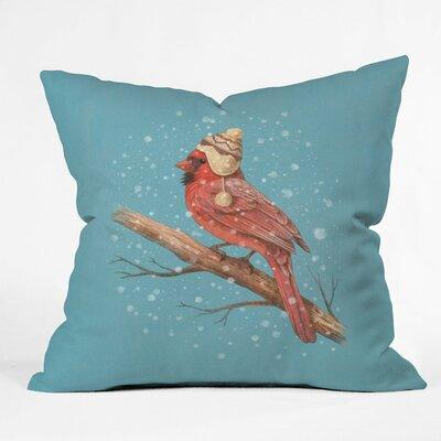 Terry Fan First Snow Indoor/Outdoor Throw Pillow