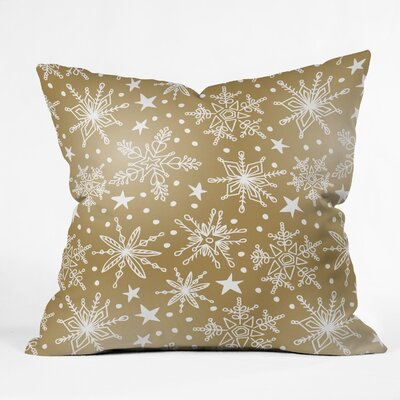 Snow Squall Guilded Indoor/Outdoor Throw Pillow