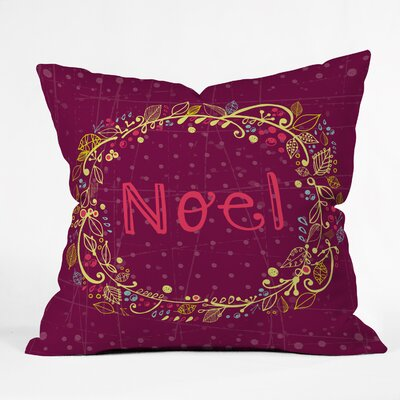 Noel Wreath Indoor/Outdoor Throw Pillow
